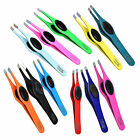 PROFESSIONAL SLANTED GRIPPY EYEBROW TWEEZERS HAIR BEAUTY TWEEZER GRIPPED