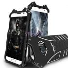 Black Dark Knight All Metal Iron Body Hard Protective Back Case Cover for Galaxy