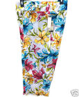 Versailles Floral Crop Pants Size 12 New Msrp $40.00