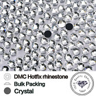 SS10 Crystal Clear Hot Fix - Iron On / Glue On Rhinestone Diamante 1 - 100 gross