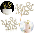 Mr&Mrs Romantic Silver Shiny Cake Topper Wedding Party Top Letter Decor