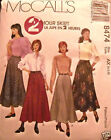 McCall's 8474 Misses 2 Hour Skirt Pattern MANY SIZES OOP VINTAGE UNCUT