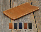 Motorola Robe Case PERSONALIZED ENGRAVED Real Leather Sleeve Pocket