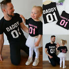 Family Matching Couple T-shirt Daddy Baby Kids Girls Shirt Clothes Tee Tops