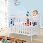 Pine Wood Baby CribToddler Bed Convertible Nursery Infant Newborn Coffee/ White
