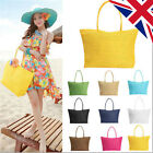 2017 Tote Shopping Beach Bag Straw Woven Shoulder Purse Handbag Summer Weave