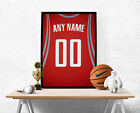 Houston Rockets Jersey Poster -Personalized Name & Number FREE US SHIPPING on eBay