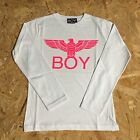 BOY LONDON T-shirt jersey manica lunga con stampa fluo 100% cotone MADE IN ITALY