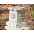 Design Toscano English Rosette Garden Sculptural Plinth