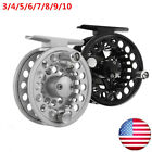 Fly Fishing Reel 3/4/5/6/7/8/9/10 Aluminum Large Arbor Right or Left-Handed US