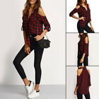 New Fashion Womans Blouse Off Shoulder Long Sleeve Casual Shirt Tops Size S~2XL