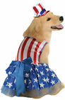 Patriotic Pooch 4th Of July USA Amercian Dog Pet Costume Clothes SM MD LG XL
