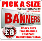 PVC BANNERS - PRINTED OUTDOOR SIGN VINYL BANNERS BIRTHDAY OR BUSINES SIGNS