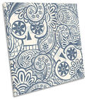 Skull Abstract Pattern Design CANVAS WALL ART Picture Square Print