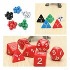 7pcs Gaming Dices Games Multi Sides Dice Mixed Color Set Game Playing Tools