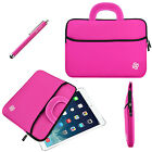 "Universal 7.9""- 8.4"" Inch Kids Tablet Sleeve Case Cover Bag Handle + Stylus Pink"