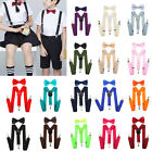 New Baby Boys Girls Kids Suspender and Bow Tie Set Tuxedo Wedding Suit Party
