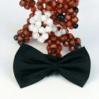 Mens Solid Color Tuxedo Classic Bowtie Pre Tied Wedding Satin Bow Tie NeckwearSN