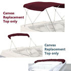 "BIMINI TOP BOAT COVER CANVAS FABRIC MAROON W/BOOT FITS 4 BOW 96""L 54""H 91""- 96""W"