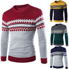 Spring Men Casual Knitted Sweater Warm Pullover Crew Neck Thick Tops  Knitwear