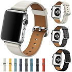 Leather Sports Watch Band Strap Bracelet +Classic Buckle for Apple Watch iWatch