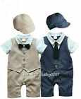 Baby clothes baby boys bodysuit  hat baby party wedding suit baby photo props