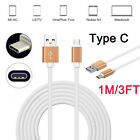 1M/3FT Over 2A Soft TPE Type C Quick Charger Sync Data Cable For Letv LE 2 Pro 3