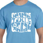 Carolina Powder Baby Blue Change The Game Peace Logo T shirt
