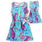 New Trolls Kids Girls Summer Sleeveless Princess Skirt Dress  Party Outfit