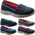 NEW GIRLS ULTRA LIGHTWEIGHT SLIP ON CANVAS MESH BOYS TRAINERS COMFORT SHOES SIZE
