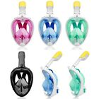 S-XL Full Face Mask Surface Diving Snorkel Scuba Breath Swim for GoPro Camera