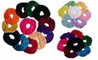SET of 7 / 12 Velvet Hair Scrunchies Elastic Scrunchy Bobbles ponytail holder