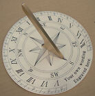 Personalised Garden Sundial, Finely Engraved Brass. Your Wording 32 characters