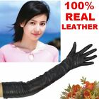 60cm New Mrs(100% Real Leather) Long Opera Gloves/Party Gloves/Evening gloves CA