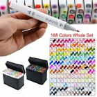 168 Color Graphic Marker Pen Touch Five New Sketch Twin Tips Broad Fine Point US