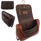 Mens Genuine Buff Leather Wash - Toiletry Bag by Ashwood Leather