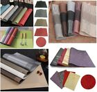 4pcs/set Dining Table Place Mats PVC Placemats Pad Weave Woven Effect Modern