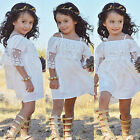USA Toddler Kids Baby Girls Lace Tutu Dress Princess Party Pageant Beach Dresses