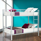 Twin over Twin Metal Bunk Beds Frame Ladder Bedroom Dorm for Kids Adult Children <br/> Top Quality✔Free Delivery✔USA INSTOCK✔