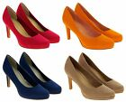 Womens Marco Tozzi Immitation Suede High Heels Court Shoes Size 4 5 6 7 8 9
