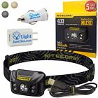Nitecore NU30 USB Rechargeable White Red CRI LED Headlamp & USB Car & Wall Plugs