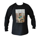 T SHIRT LONG SLEEVE JESUS DIED FOR OUR TINS VB MENS BLACK ALL SIZES S TO 3XL