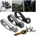 EDC Snap Trigger Key Ring Split Keychain Clasps Clip Hook Carabiner Sruvival 10X