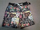 Mens L, 2XL CLASSIC STAR WARS COMIC Swim Trunks with Fly Board Shorts NEW