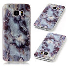 Slim Marble Grain Pattern Soft TPU Back Case Cover Skin For Samsung Galaxy Phone