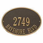 Hawthorne Oval Two Line Personalized Address Plaque