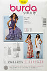 BURDA PATTERN DRESS V NECK - KNEE OR FLOOR LENGTH EASY SIZE 16-28 # 7547