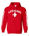 NW MEN'S LIFEGUARD BEACH SAFETY POOL STAFF SWEATSHIRT RED PULLOVER HOODIE JACKET $27.08 USD on eBay