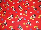 Mickey Mouse Letters CP63315  Red Disney Springs Sewing Quilting Cotton Fabric