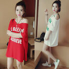 Fashion Women Loose Cotton Short Sleeve Blouse Tops Casual Short Shirt Dress